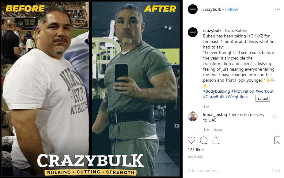 Crazybulk Testimonial